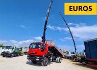 IVECO 190T36 TRAKKER EURO5 CASS. RIB.LE + GRU HIAB 111/3S